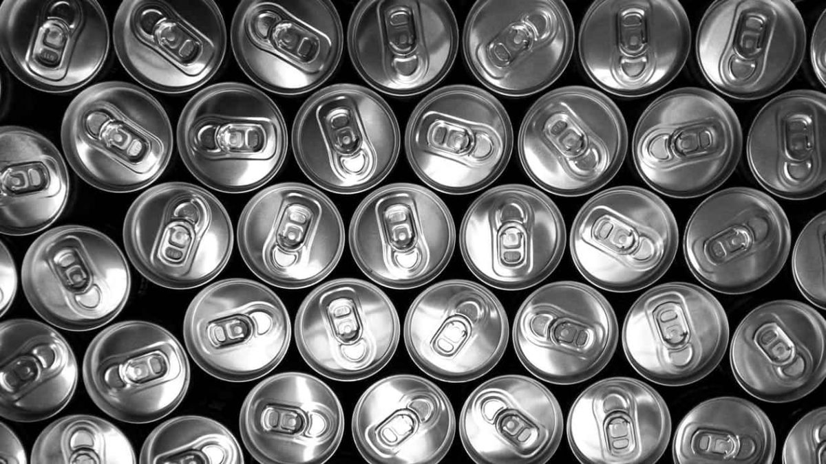 cans on their side