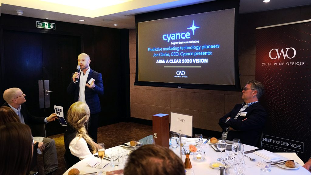 Jon Clarke of Cyance at Chief Wine Officer